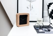 Ocean - Desk clocks / Cork clocks made in France, Ocean inspired
