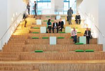 Office Design / Modern environments and office spaces that support personal, collaborative and social work behaviors.