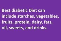 Best diabetic Diet / Best diabetic Diet can include starches, vegetables, fruits, protein, dairy, fats, oil, sweets, and drinks just like anyone else's diet. The only difference is the amount ofthings like sugar, salt, fat etc. must be low. Thus diabetics can eat all good food to make sure their dietremains very balanced in various nutrients. The only difference is that diabetic diet must be low in sugar, salt and fat.