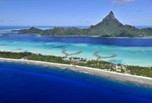 FUN: Overwater Bungalows / It's impossible to think of Tahiti and Bora Bora without thinking of the overwater bungalow experience. Considering adding it to your vacation? Here's a glimpse of why it's the talk of the town.