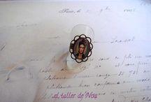 Anillo retro con camafeo Col. Bague Camée / Camafeos con aire retro e imágenes de todo tipo, en preciosos anillos: Col. Bague Camée