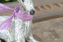 Paper mâché dogs / Ornaments