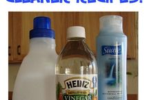 Homemade cleaning tips.