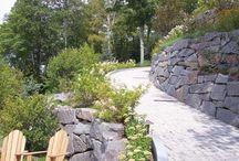 hillside driveway