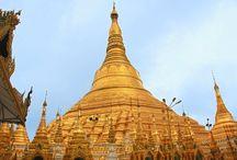 Rangún (Yangon) / La ciudad de Rangún (Yangon) la capital de Myanmar, la antigua Birmania.
