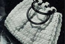 Crochet hand bags