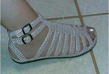 crochê sandália