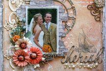 Scrapbook Layouts - Wedding