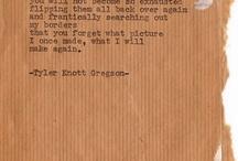Tyler Knott Gregson / Poetry / by Ellen Vollmer