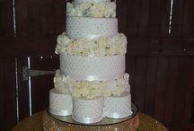 White Iced wedding cakes
