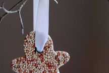 Creating the Easy Bird Seed Ornaments