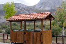 Papeleras y contenedores de madera