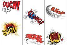 Y9 - Comic Strip / Copy two of the examples and then make your own version of a graphic word.