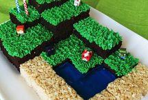 Minecraft kids cake