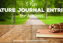 nature journals / Ideas for nature journaling throughout the seasons
