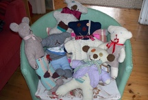 Rescue Teds / Handmade teds from humble sources by Skip Sisters Edori and Julia.