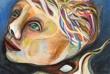 """Exhibition """"RENATE BINNIG"""" / A pintura de Renate Binnig emerge do equilíbrio entre a realidade e a fantasia. A liberdade criativa não é fruto de uma conquista, mas sim uma qualidade natural da artista. A sobreposição do imaginário na realidade é um desafio a nossa capacidade de intepretação. José Roberto Moreira"""