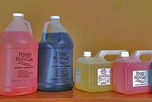Liquids / Penner Patient Care cleaning solutions for bathing spas.