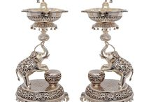antique silver pooja items