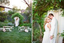 Garden ceremonies / nice outdoor ceremony