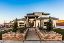 Prairie Style Homes / Homes designed by Walker Home Design with prairie style exteriors.