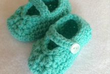 Crochet shoes! / These cute little crochet shoes are made by me :-)