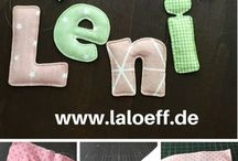 Fabric letters
