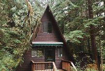 Ahşap kolonlu kulübe tarzı evler