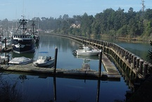Noyo Harbor / One of the last real small-town fishing harbors north of San Francisco is located in Fort Bragg, CA.