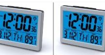 "Set of 2 Atomic Desk / Set of 2 Atomic Desk/bedroom Alarm Clock-1.5"" Time Number, Back Blue Light"