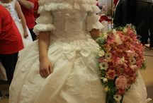 Bride dress in papir / It was a school project