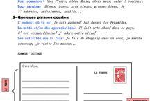 Écrire une lettere/ carte postale