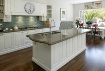 Kitchen / French provincial, understated, timber, hand painted (can't afford!), country, natural stone, local, tiles, white, warm, practical, storage, simple, beautiful...