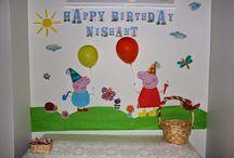 2nd year Birthday / peppa pig birthday party theme