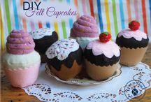 cupcake felt