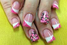 Pink black vlower white insetels