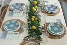 Yemek masası dekoru
