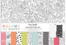 Colour Me Happy collection - Cocoa Vanilla Studio / Layouts and inspiration using the Colour Me Happy collection from Cocoa Vanilla Studio! See the full Colour Me Happy collection here: http://cocoavanilla.com.au/product-category/colour-me-happy/