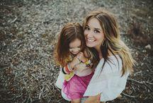 Lifestyle - Famílias mãe e meninas / Ideias para fotografar famílias de mães com filhas meninas.