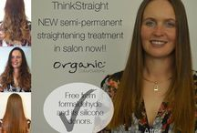OCS Think Straight Semi Permanent Straightening System / Think Smooth... Think Simple... Think Straight...  The world of straightening just got easier! Think Straight semi-permanent straightening system is effective in taming out of control hair for up to 6 weeks in just six simple steps. Many salon clients crave soft, sleek straight hair but not at the expense of the health of their hair or precious time. It's quick and simple, leaving clients with soft, sleek and manageable locks in a process that is not time consuming for client or salon!