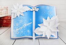 Christmas Gatefold Embossing Folder Collection / Here you can find some card samples, used the wonderful Christmas Gatefold Embossing Folder Collection. For more information visit www.tatteredlace.co.uk. / by Tattered Lace®