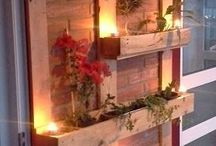 decorar con plantas y luces