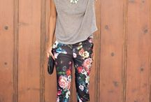 Printed pants outfit ideas