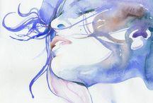watercolor ilustrasion :) / I see I like :)