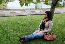 Cachecóis de crochê e tricô / Peças produzidas em tricô e crochê pelo Ateliê Karine Lopes