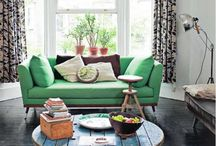 Green | Home Decor Color Trends 2014 via The Decorating Diva  / The Decorating Diva: Green  hued color direction for the home from the worlds of architecture, fashion, beauty and more. / by Carmen @ the Decorating Diva