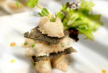 Layered tuna rillettes