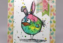 Crazy birds - Tim Holtz stamps