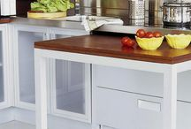Retractable kitchen tables