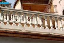 """Balustrades / Remodel all that history has given us"""" is Carobbio philosophy. Our products are used to harmoniously integrate all kind conservative restoration and renovation work: from villas to old country courtyards, from large-scale public works to museums, bridges and long river parapets."""
